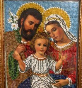 """Икона ручной работы """"Святое Семейство"""""""