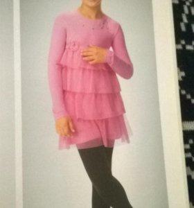 Платье велюровое на 9-11лет
