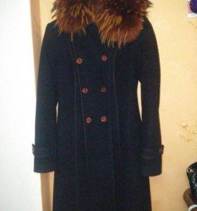 Зимнее пальто драп