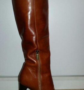 Сапоги осенние/ весенние кожаные коричневые