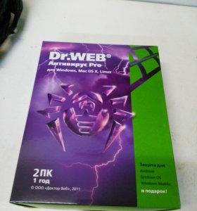 Антивирус Dr.Web Pro 12 месяцев, на 2 ПК