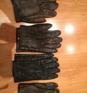 Перчатки кожаные 4 пары