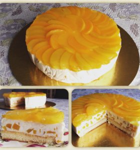 Йогуртовый торт с персиками/ананасом