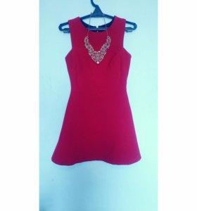 Красное платье ZARA
