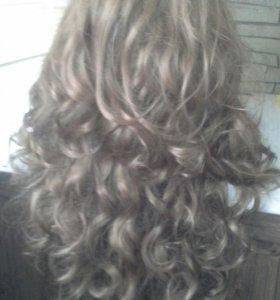Парик с длинными волосами