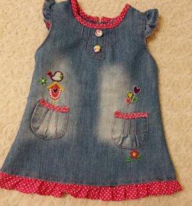 💎 62, 68, 74 Джинсовые платья для малышки