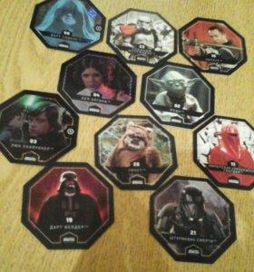 Карточки звёздные войны из магнита.