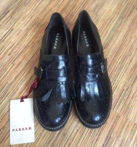 Новые туфли PAROSH, кожа, размер 38( 24,5 см)