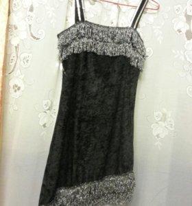 Платье новое бархат с серебром