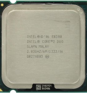 Core2 Duo e8300. socket 775