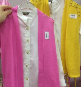 Блузка+жилетка
