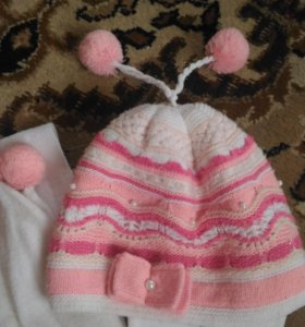 Детский комплект:шапка и шарф