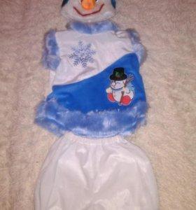 Новогодний костюм снеговичка