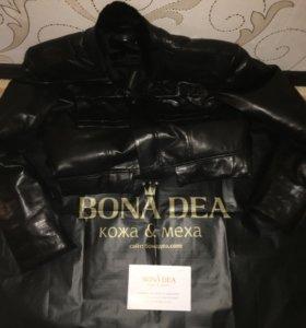 Куртка натуральная телячья кожа , овчина
