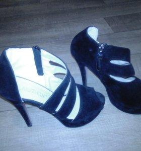 Туфли замшевые 39р.