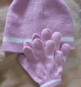 Шапка + рукавицы