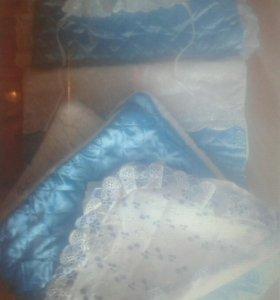 Детский зимний конверт с рождения и комбез