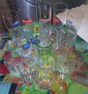 Бокалы для пива и вискаря