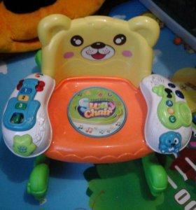детское музыкальное кресло качалка