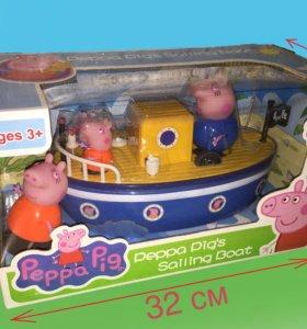 Свинка Пеппа лодка-корабль