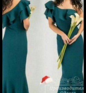 Платье в пол русалка