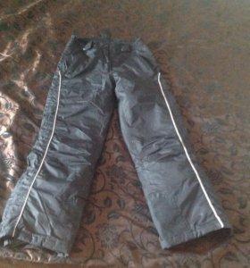Тёплые штаны болоневые для девочки