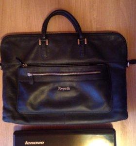 Мужская кожаная сумка(портфель)