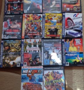 Игры на PS2 14 шт.