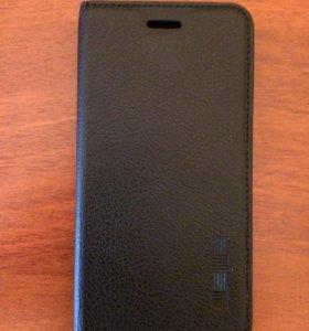 Кожаный чехол на моб.телефон ZTE Blade X 3 Black.