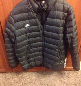 Зимняя мужская куртка адидас