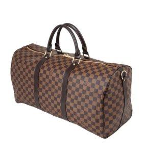 Сумка Louis Vuitton Keepall 55 (коричневая)