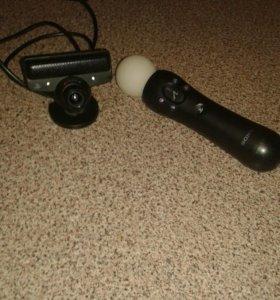 Камера sony eye+контроллер движения ps  move