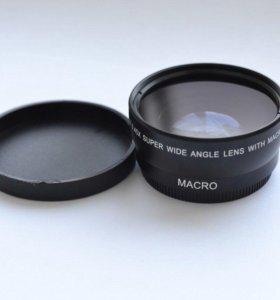 Широкоугольная насадка на объектив (для Nikon)