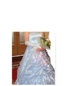 Платья, голубого цвета. Размер 46.