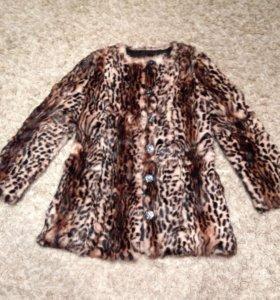 Натуральный леопардовый шуба!