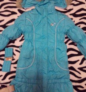 Отличная зимняя куртка для девочки 6-8 лет