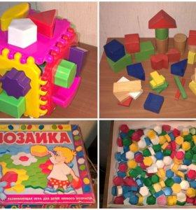 Мозаика, пазлы, кубик