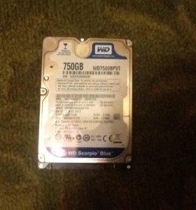 Жесткий диск, фирма Toshiba. 750 гигабайт!