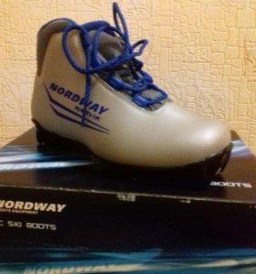 Ботинки лыжные новые  для крепления NNN
