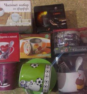 Кружки,чайные пары,икорницы...