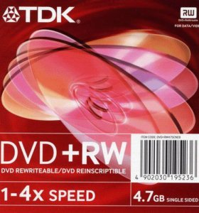 TDK DVD+RW диски. 5 штук. Новые!