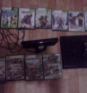 Xbox 360 + kinect + 11 игр