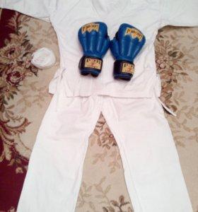 Кимоно+перчатки для рукопашного боя
