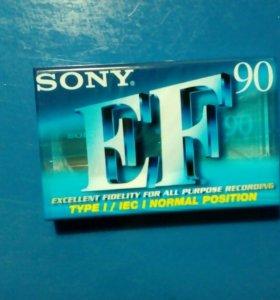 "📼Аудиокассета тип 1 ""SONY"" EF90"
