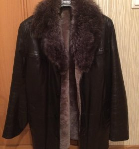 Кожаная куртка зимняя,реальному покупателю торг.