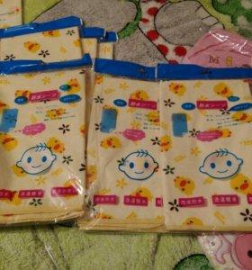 Многоразовые пеленки среднего размера,детские