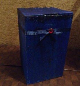 """Коробка винтажная """"синее дерево"""""""