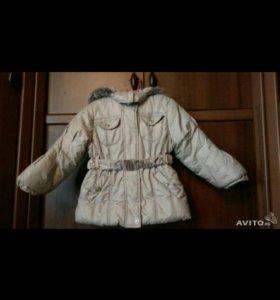 Зимняя курточка б/у. размер 98-100