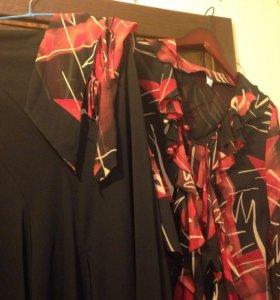 Юбка и шифоновая блузка 46-48
