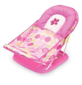Горка (лежак) для ванны Deluxe BabyBather  розовый